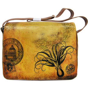Octopus vegan leather laptop bag