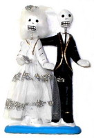 Skeleton Wedding Couple Day of the Dead