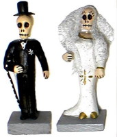 Skeleton Bride and Groom Day of the Dead