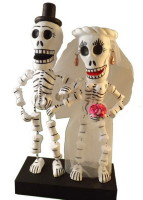 Bendable wedding couple Day of the Dead
