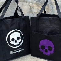 Skullbag shopping bag designed by Piers Lamb
