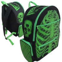 Green ribcage backpack