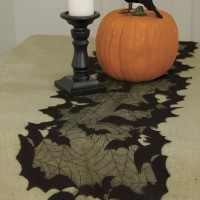 Batty lace table runner