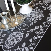 sugar skulls table runner