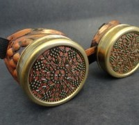 Steampunk goggles vintage copper