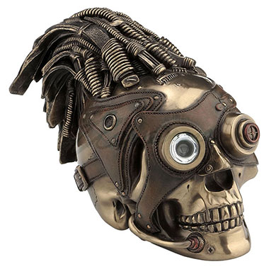 WU76300V4 Steampunk skull wire hair