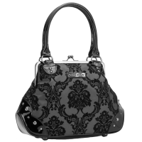 Kisslock Damask Black