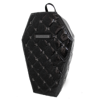 Coffin Backpack with Spiders